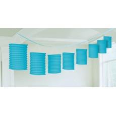 Blue Caribbean Paper Lantern