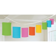 Multi Colour ed Garland Lantern