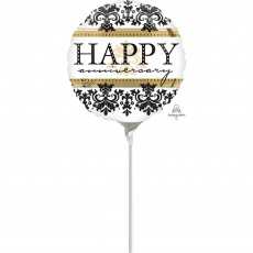 Anniversary Damask Foil Balloon