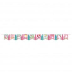 Magical Unicorn Party Decorations - Garland Glitter Pennant Tassel
