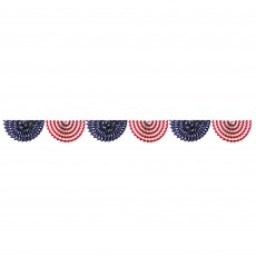 USA Patriotic Paper Fan Bunting Garland