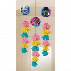 Trolls World Tour Dangle Hanging Decorations 12cm x 1.9m Pack of 3