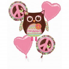 Hippie Chick Bouquet Foil Balloon