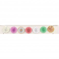 Pastel Celebration Mini Fans Garland
