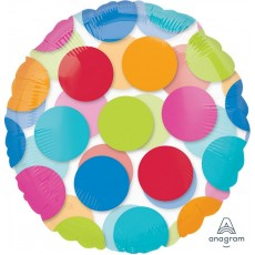 Dots Cabana  See-Thru Foil Balloon