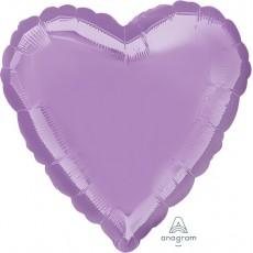 Lavender Party Decorations - Shaped Balloon Pearl Lavender Heart