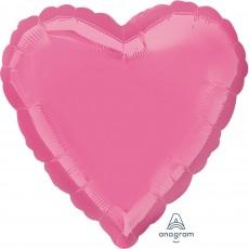 Heart Rose Pink Standard HX Shaped Balloon 45cm