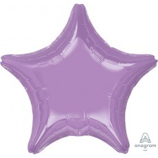 Lavender Party Decorations - Shaped Balloon Pearl Lavender Star