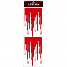 Halloween Bloody Drips Gel Cling Misc Decoration