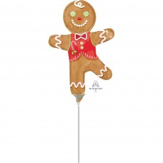 Christmas Mini Candy Gingerbread Man Shaped Balloon