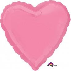 Heart Bright Bubble Gum Pink Love Standard HX Shaped Balloon 45cm