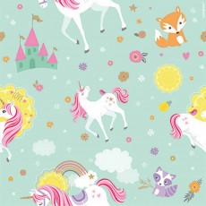 Magical Unicorn Party Supplies - Printed Gift Wrap