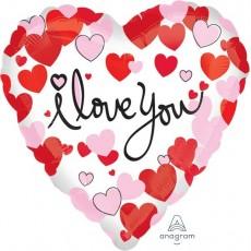 Love Hearts Equal Foil Balloon