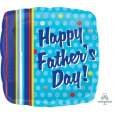 Father's Day Standard XL Dots & Stripes Foil Balloon