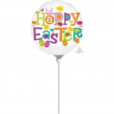 Dots Happy Easter Foil Balloon 22cm