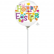 Easter Dots Foil Balloon