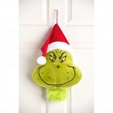 Dr Seuss The Grinch Head Plush Door Decoration