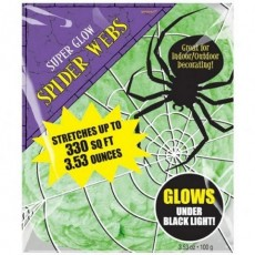 Halloween Glows Under Black Light Spider Web Misc Decoration