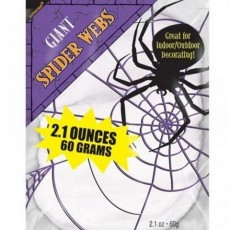 Halloween Stretchable White Spider Web Misc Decoration