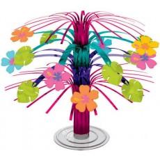 Hawaiian Luau Hibiscus Mini Cascade Foil Centrepiece