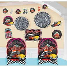 Rock n Roll Classic 50's Room Decorations Decorating Kit
