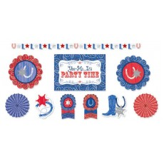 Bandana & Blue Jeans Room Decorations Decorating Kit
