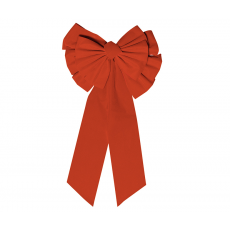 Christmas Red Large Gathered Bow Misc Decoration