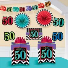 50th Birthday Celebration Room Decorating Kit