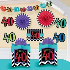 40th Birthday Celebrate Room Decorating Kit