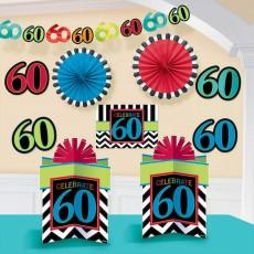 60th Birthday Celebrate Room Decorating Kit