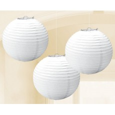 White Frosty Paper Lanterns