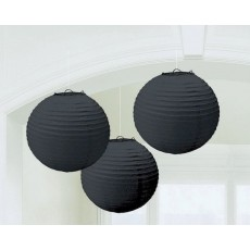 Black Jet Paper Lanterns