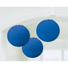 Blue Bright Royal Paper Lanterns