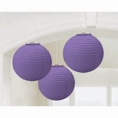 Purple New Paper Lanterns