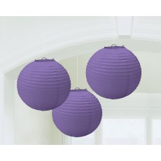 Purple New Paper Lanterns