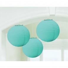 Round Robin's Egg Blue Paper Lanterns Pack of 3