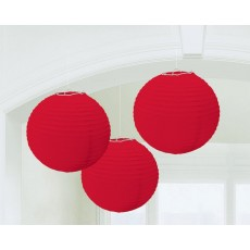 Red Apple Paper Lanterns