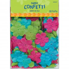 Hawaiian Luau Hibiscus Flower Fabric Confetti