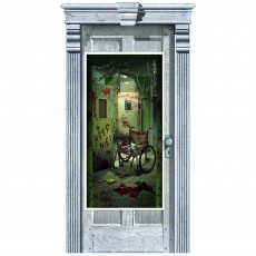 Halloween Asylum Corridor of Doors Door Decoration