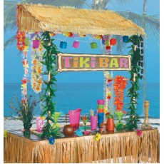 Hawaiian Luau Tiki Bar Hut Decorating Kit