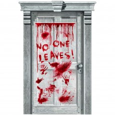 Halloween Asylum Dripping Blood Door Decoration
