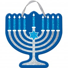 Hanukkah Sign Hanging Decoration 29cm x 29cm