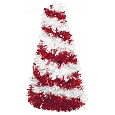 Christmas Party Decorations - Centrepiece Tinsel Tree Candy Cane