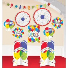 Balloon Bash Room Deco Decorating Kit