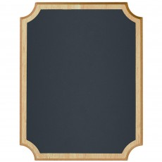 Chalkboard Party Decorations - Natural MDF Easel Sign