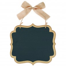 Chalkboard Party Decorations - Natural Large Marquee MDF Sign