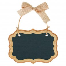 Chalkboard Party Decorations - Natural Small Marquee Sign