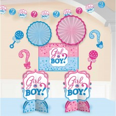 Gender Reveal Room Decorating Kit