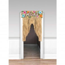 Hawaiian Luau Summer Luau Beach Door Decoration