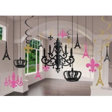 Day in Paris Party Decorations - Decorating Kit Chandelier